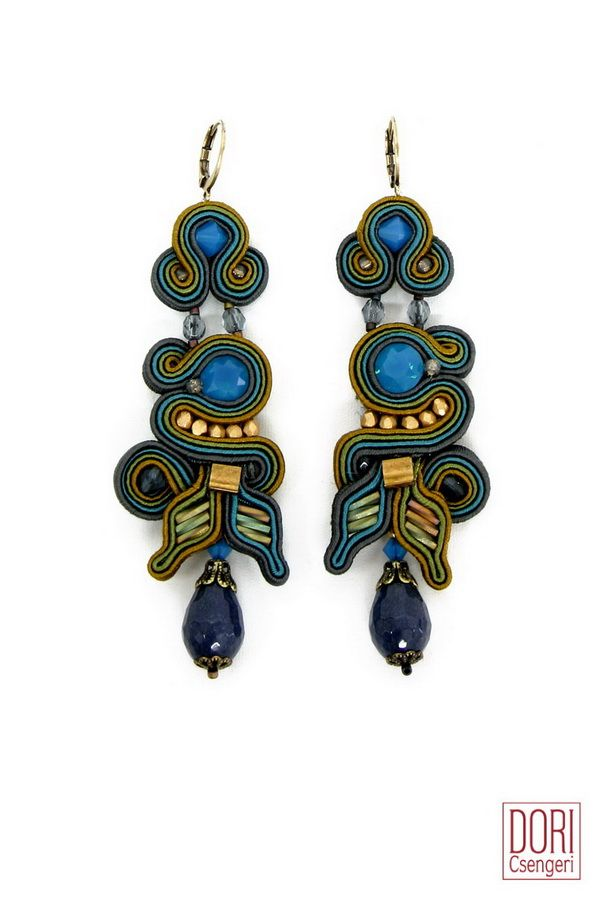 Oasis in green and blue. #doricsengeri #oasis #greenandblue #earrings #jewelry #accessories