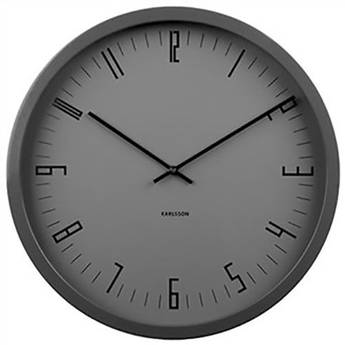 Karlsson Cased Indexed Wall Clock - Steel Black
