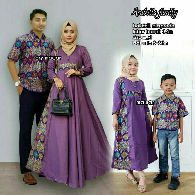 Batik Keluarga Material Untuk Cewek Katun Prada Mix Balotelli Kemeja