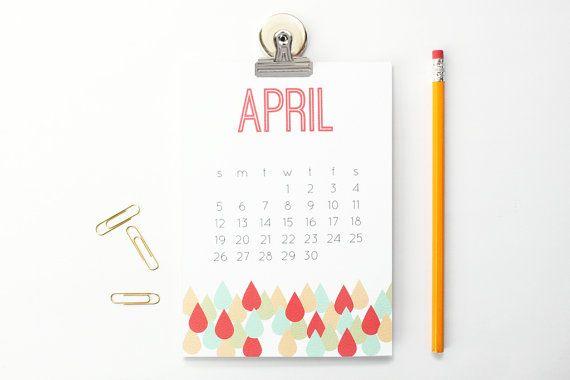 2015 desk calendario mensile calendario magnetico moderno geometrico ufficio forniture Natale regali parete calendario modello grassetto Planner mensile