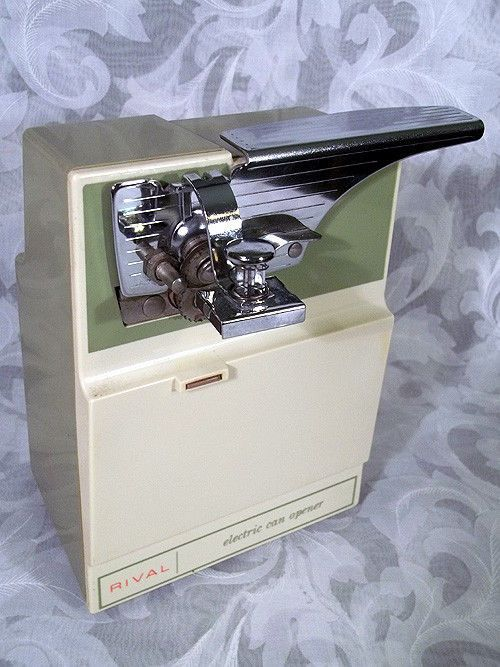 Sold Vintage Rival Electric Can Opener Green Ivory Model