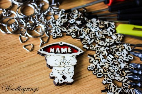 Personalised Handmade Wood Keyrings Perfect For Gift    NOTE Alphabet or Number max: 5 characters    Product Details:  · Made of plywood covered with clear acrylic sheet  · Length : 6 CM  · Width: 5 CM  · Depth: 0.6 CM      Please leave your name notes to seller, or send us a message. Please doub...