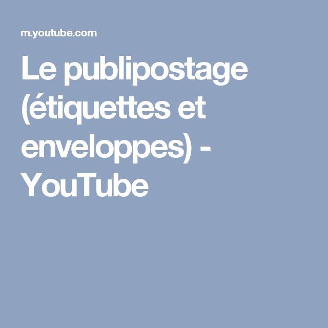 Le publipostage (étiquettes et enveloppes) - YouTube