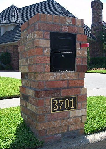 Brick Mailbox With Oasis Locking Security Mailbox Insert