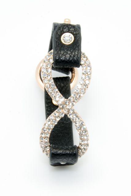 Leather Studded Bracelet Black