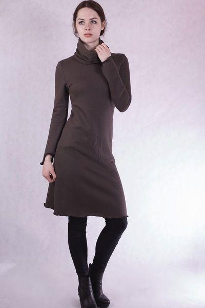 winterkleidwarmeskleid mit ext loopschal  winter kleid