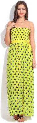 Heart 2 Heart Women's Maxi Dress - Buy YELLOW/BLUE Heart 2 Heart Women's Maxi Dress Online at Best Prices in India | Flipkart.com #Maxi #Dresses #India