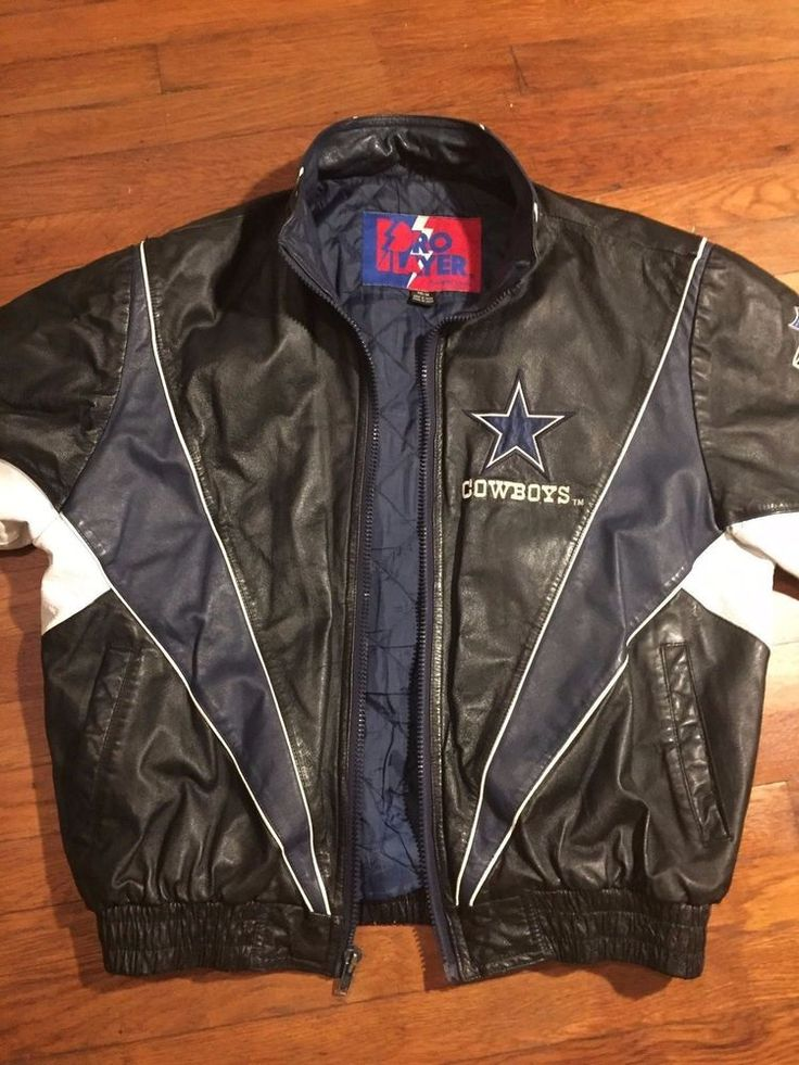 VINTAGE NFL DALLAS COWBOYS PRO PLAYER BY DANIEL YOUNG GENUINE LEATHER JACKET…