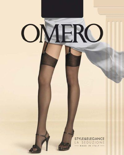 Omero Creusa 15 Ð A Luxury Silky Smooth Matte Finish Stocking in 15 Denier Ð Imported from Italy Omero. $13.99. Ultra smooth and silky stockings. Classic stocking top. 92% Nylon, 8% Elastain. Invisible Toe. Shaped Leg
