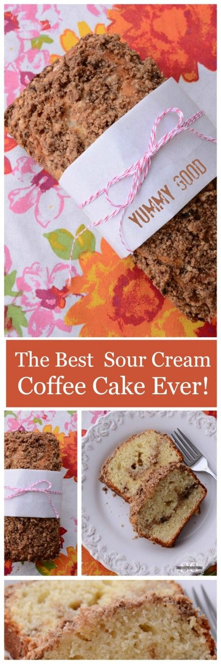 THE BEST SOUR CREAM COFFEE CAKE EVER You will love this! #bHomeApp