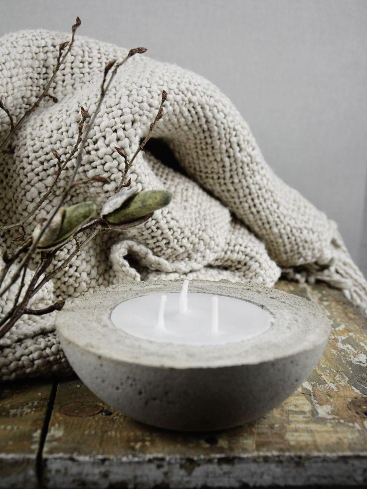 DIY | Kerzen selber machen mit Beton und Wachs