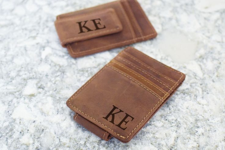 Personalized Wallet, Personalized Leather Wallet Money Clip, Groomsmen Gifts, Groomsman Wallet, Personalized Wallet for Men by RepurposedShine on Etsy https://www.etsy.com/listing/560433390/personalized-wallet-personalized-leather