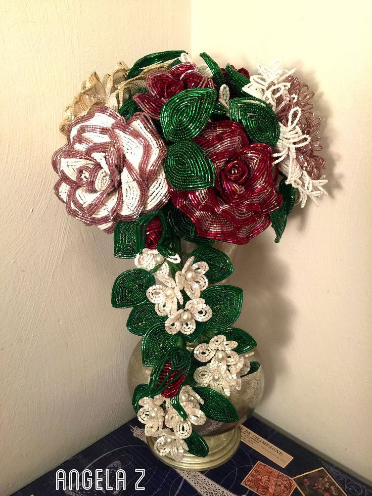 A personal favorite from my Etsy shop https://www.etsy.com/listing/521564149/custom-made-french-beaded-flower-bridal