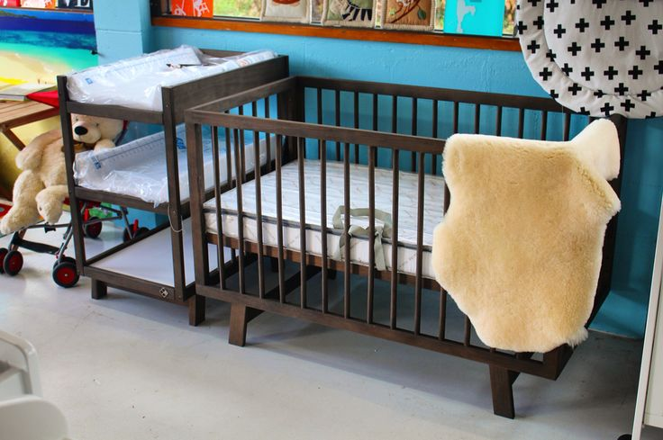 The Euro in Coco. This sleek European designed cot works in any modern design baby nursery, with its sharp angles and low height it's the easiest cot to use and the most stylish to own. Come down to the Byron baby shop to have a squiz at the beauty. www.byronbabyshop.com.au #modern #modernbaby #modernbabystore #europeandesign #cot #babyshop #babystore #nursery #nurserydecor #nurseryinspo #nurseryideas #babyroom #lambskin #lambswool #marino #babies #babyshower #babygirl #babyboy…