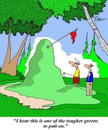 golf jokes | Golf Cartoon: Tougher Green - Jerry King