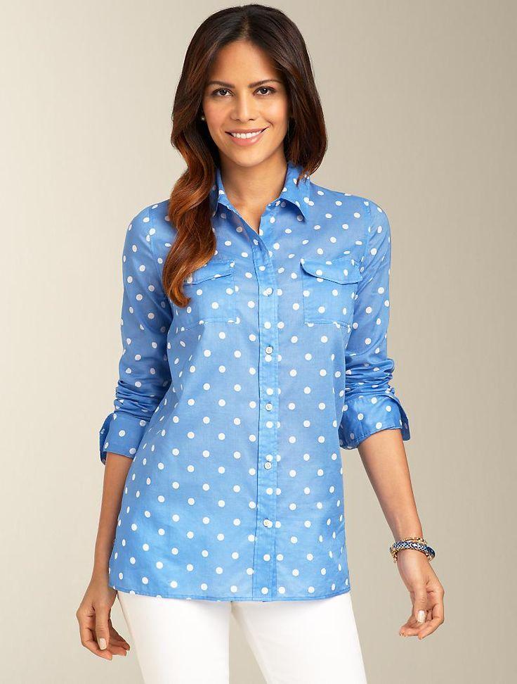 Talbots - Summer Dot Shirt