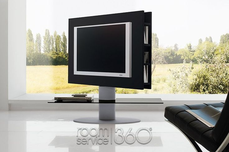 Black Modern Cortes TV Stand with Storage by Tonin Casa