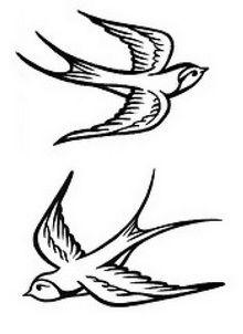 Tattoo Art Drawings | Tribal Sparrow Tattoo Drawings | Bird Tattoo Designs