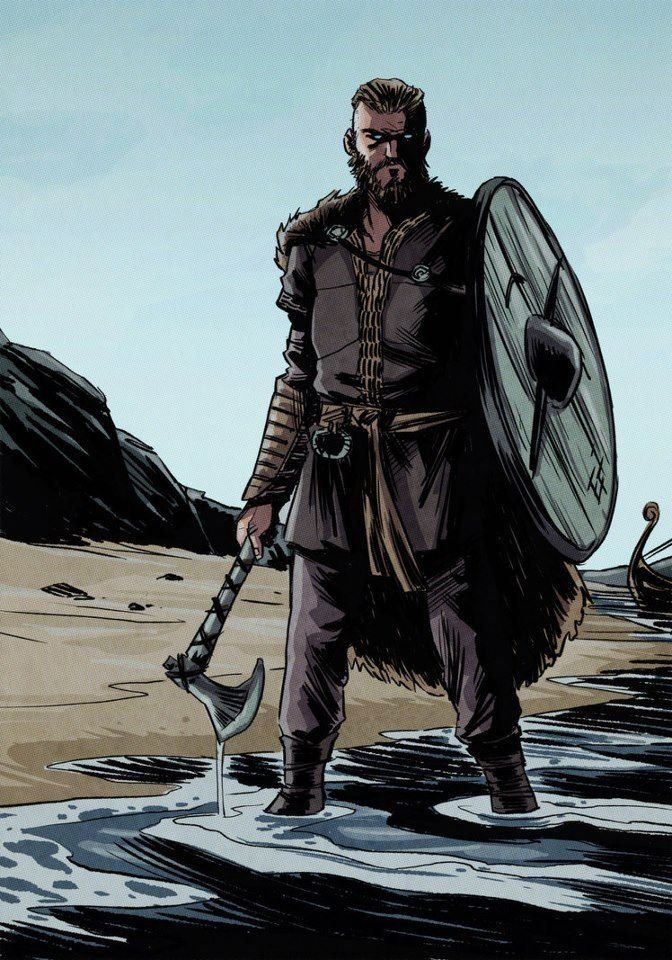 """Ragnar Lothbrok """"DOB: 765 DOD: 845"""" (Norse) - The Norse spelling is Ragnarr Loðbrók. He is a legendary Norse ruler and hero from the """"Viking"""" Age. Loðbrók was the scourge of France and England. Father of, Ivan the Boneless, Björn Ironside, Halfdan Ragnarrsson, Sigurd Snake in the Eye and Ubbe Ragnarrsson. Three times married, Shieldmaiden Legertha, Nobleman Póra and Warrior Queen Aslaug. Ancestors: He is said to be son of King Sigurd Hring and distant relative of Danish King Gudford."""