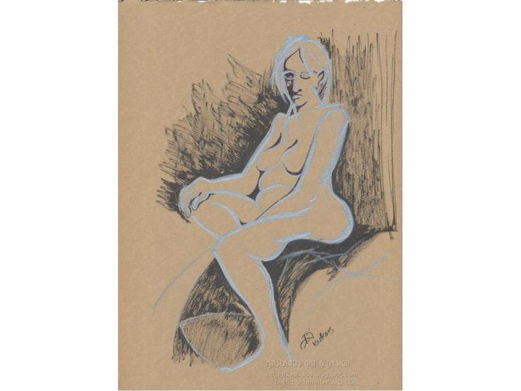 Nude Pencil Drawing, Female Nude Art, Fine Art Nude, Minimalist Nude Art, Contemporary Nude Art
