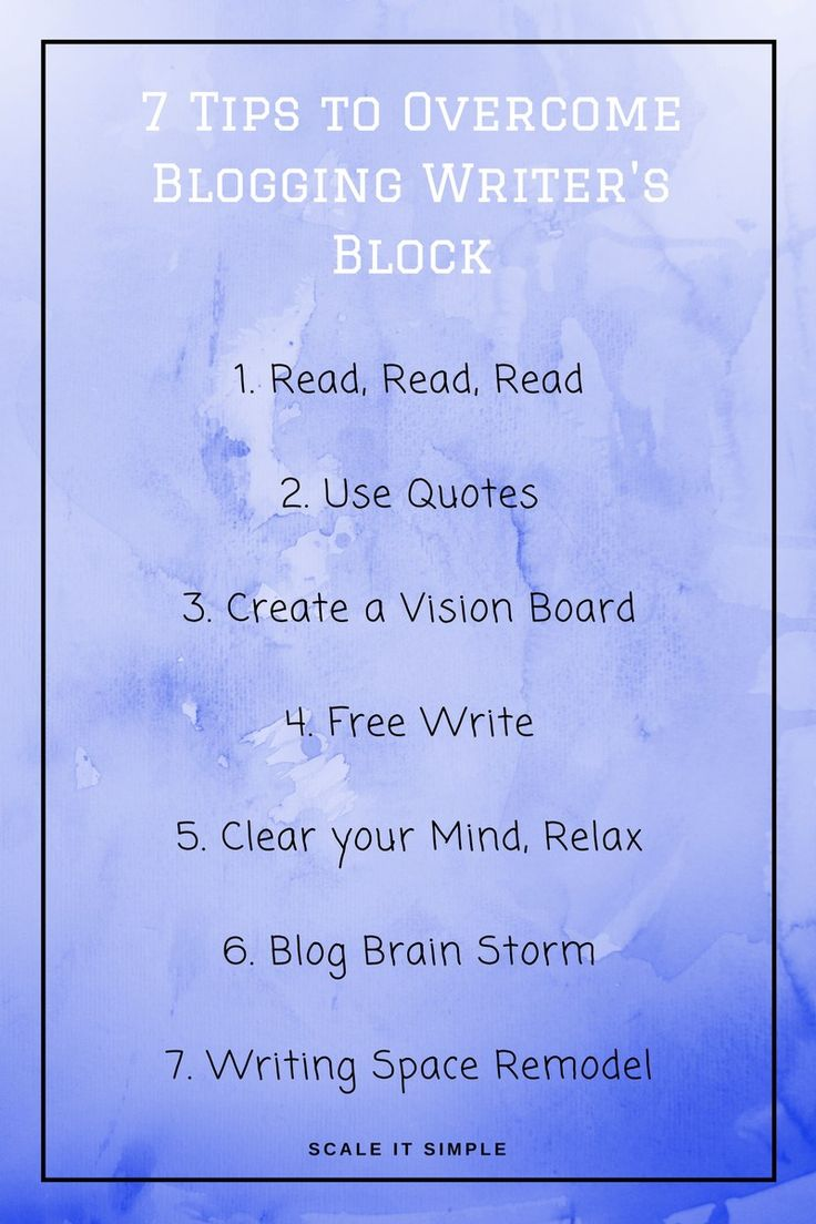 Seven tips to help you overcome blogging writer's block. Help inspire yourself to keep writing when you feel stuck by using these tricks.