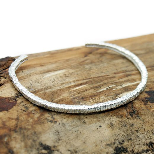TEGO Sterling Silver Wire Bangle Cuff - Impressive