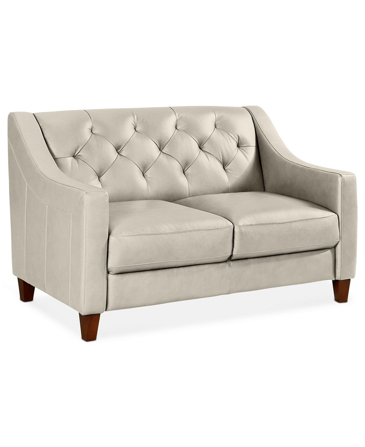 claudia ii leather loveseat 53 w x 35 d x 33 h couches