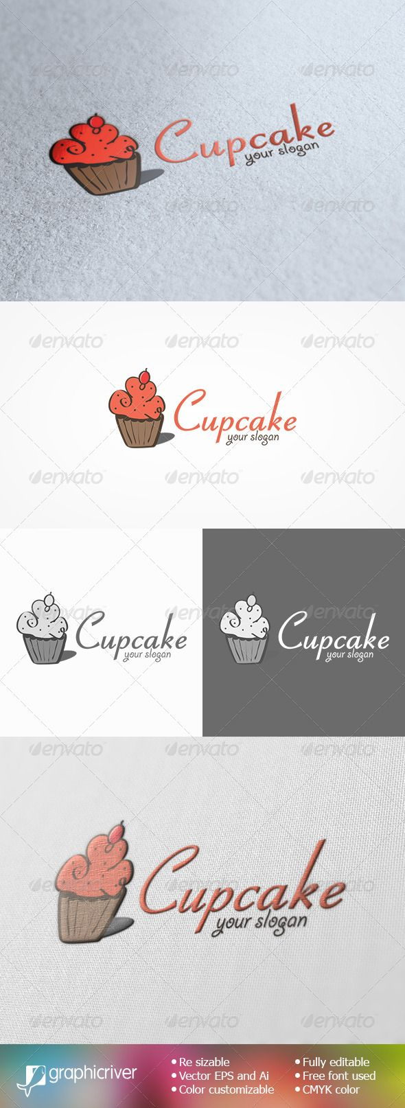 229 best bakery logo template images on pinterest bakery logo cupcake logo template pronofoot35fo Image collections