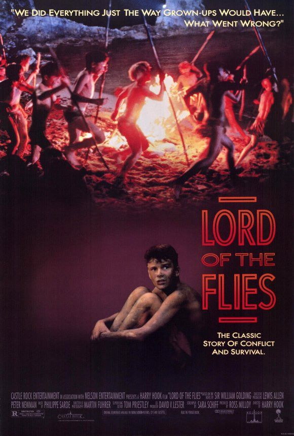 Lord of the Flies 11x17 Movie Poster (1990) Lord of the Flies is a novel by Nobel Prize-winning author William Golding about a group of British boys stuck on a deserted island who try to govern themselves, with disastrous results.