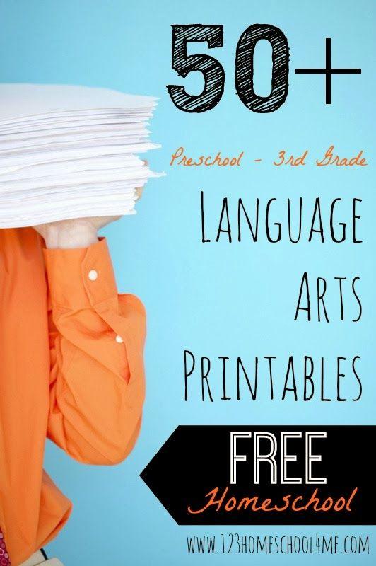 Homeschooling Resources: 50+ FREE Homeschool Language Arts Printables | Free Homeschool Deals ©