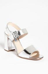 Prada Two Strap Block Heel Sandal