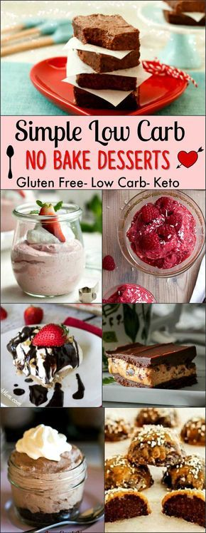 Simple Low Carb No Bake Desserts- Gluten Free, Low Carb & Keto