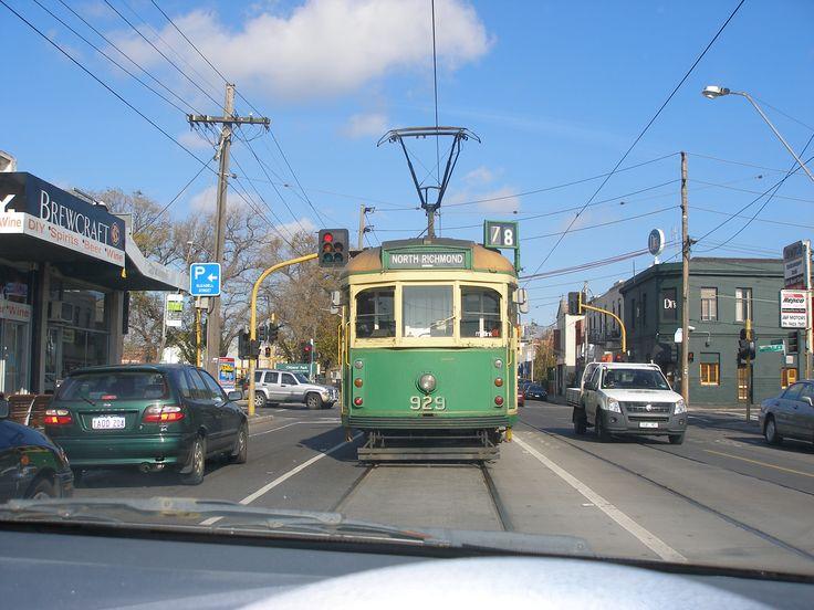 An old green tram, a Melbourne icon, Melbourne Australia.
