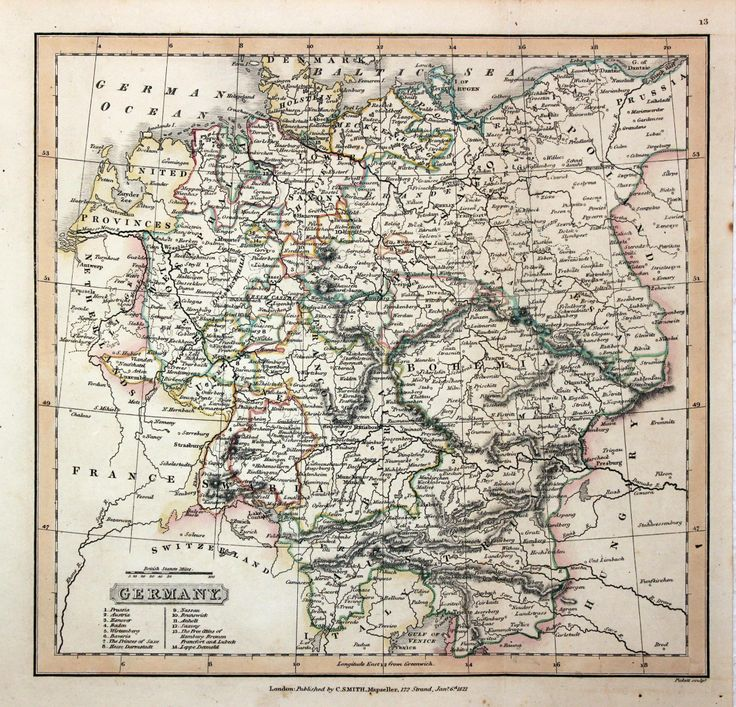 antique map germany charles smith 1821 visualization general reference environmental management