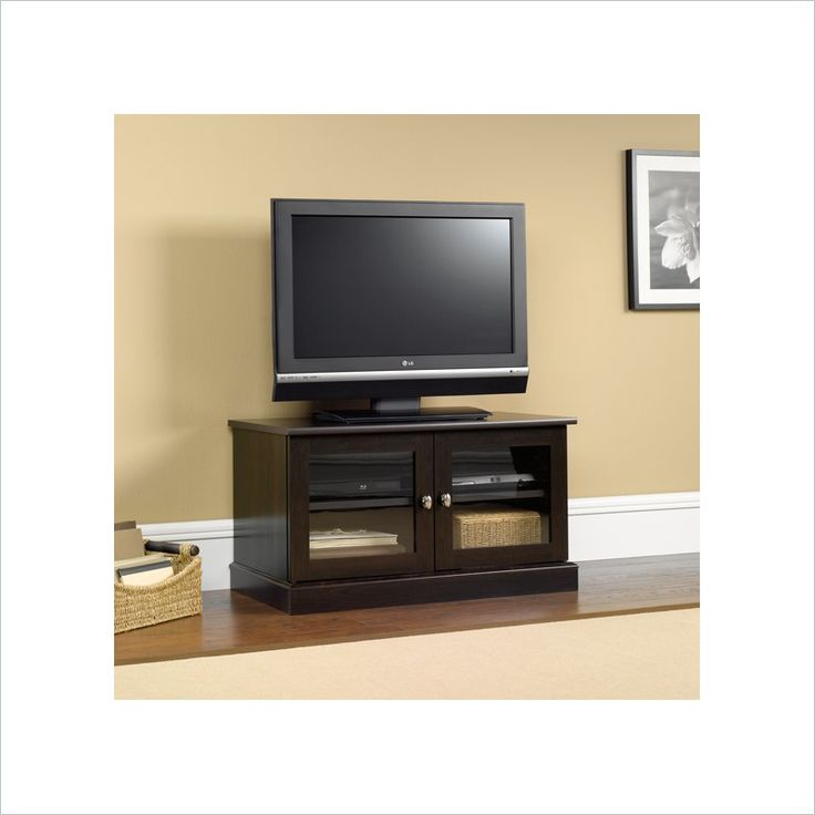 Sauder TV Stand in Cinnamon Cherry - 412014 - Lowest price online on all Sauder TV Stand in Cinnamon Cherry - 412014