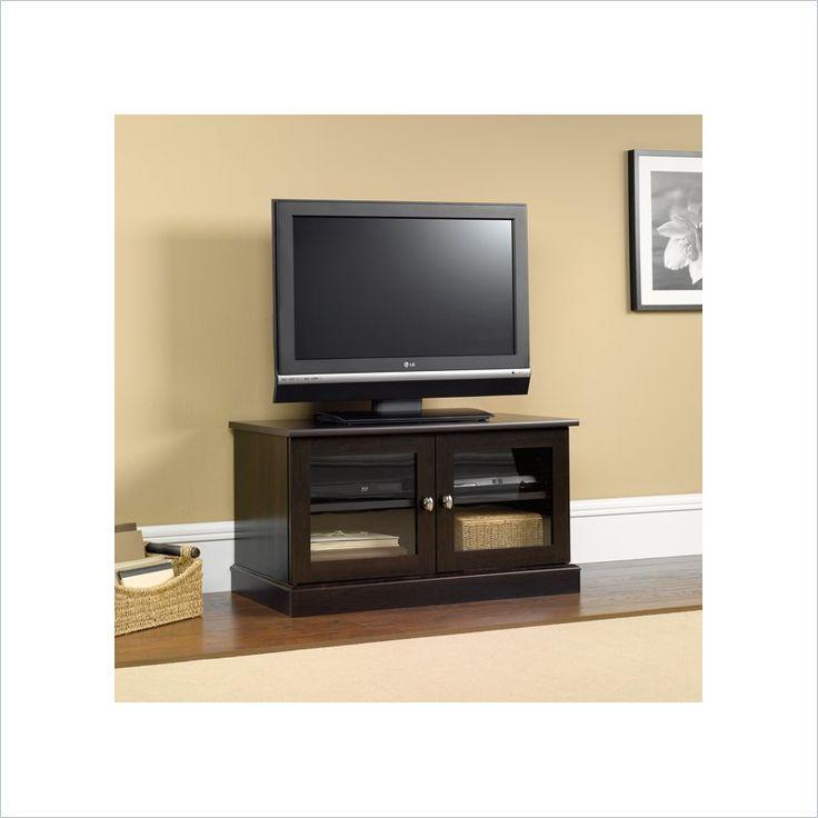 Sauder TV Stand in Cinnamon Cherry - 412014 - Lowest price online on all Sauder TV Stand in Cinnamon Cherry - 412014