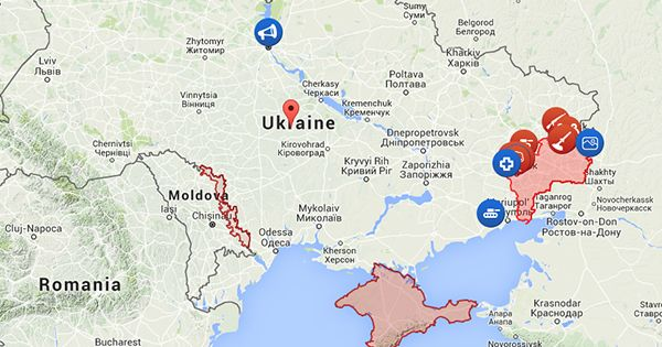 Interactive live map of conflict news - Ukraine Latest News - liveuamap.com