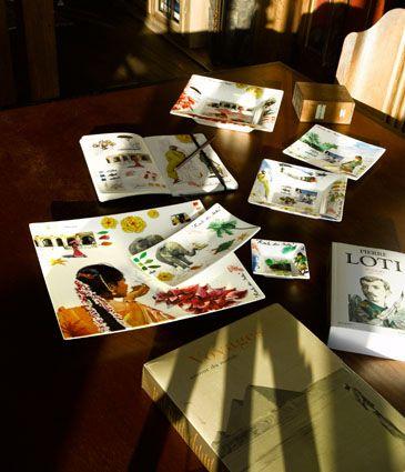 "Zastawa stołowa - Faïencerie de GIEN - ""Collection Route des Indes"""