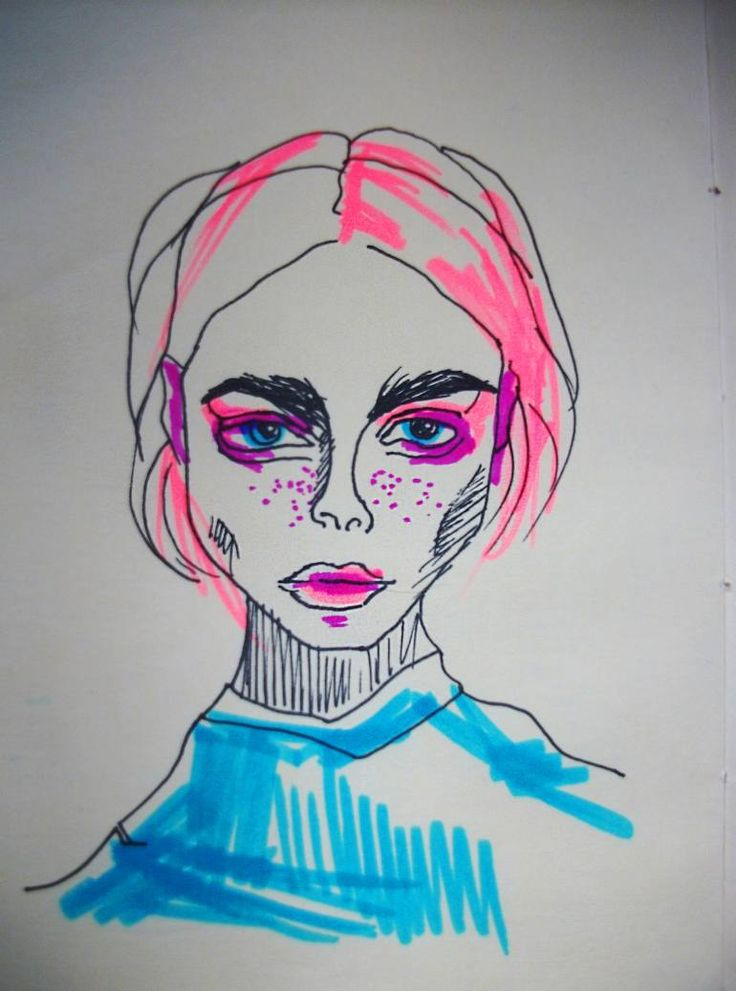 Buy Fashion icon, a Ink on Paper by Gella Goring from Russia. It portrays: Women, relevant to: pink, portrait, pretty, blue, supermodel, women, fashion, caradelevigne, girl, icon I am supermodel. I go out in blaze of glory. Fashion is my religion and Vogue is my Bible.