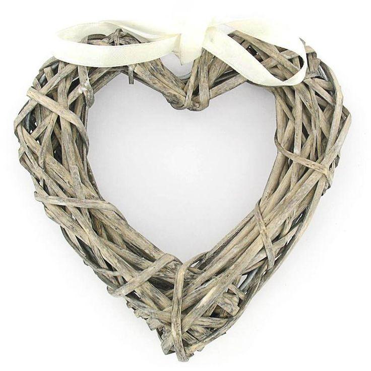 Wicker Heart Wreath 15 X 15 Cm | Hobbycraft