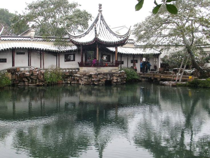 The Pavilion for Watching the Moon is a feature of the 12th century Garden of the Master of the Nets at Suzhou, China.