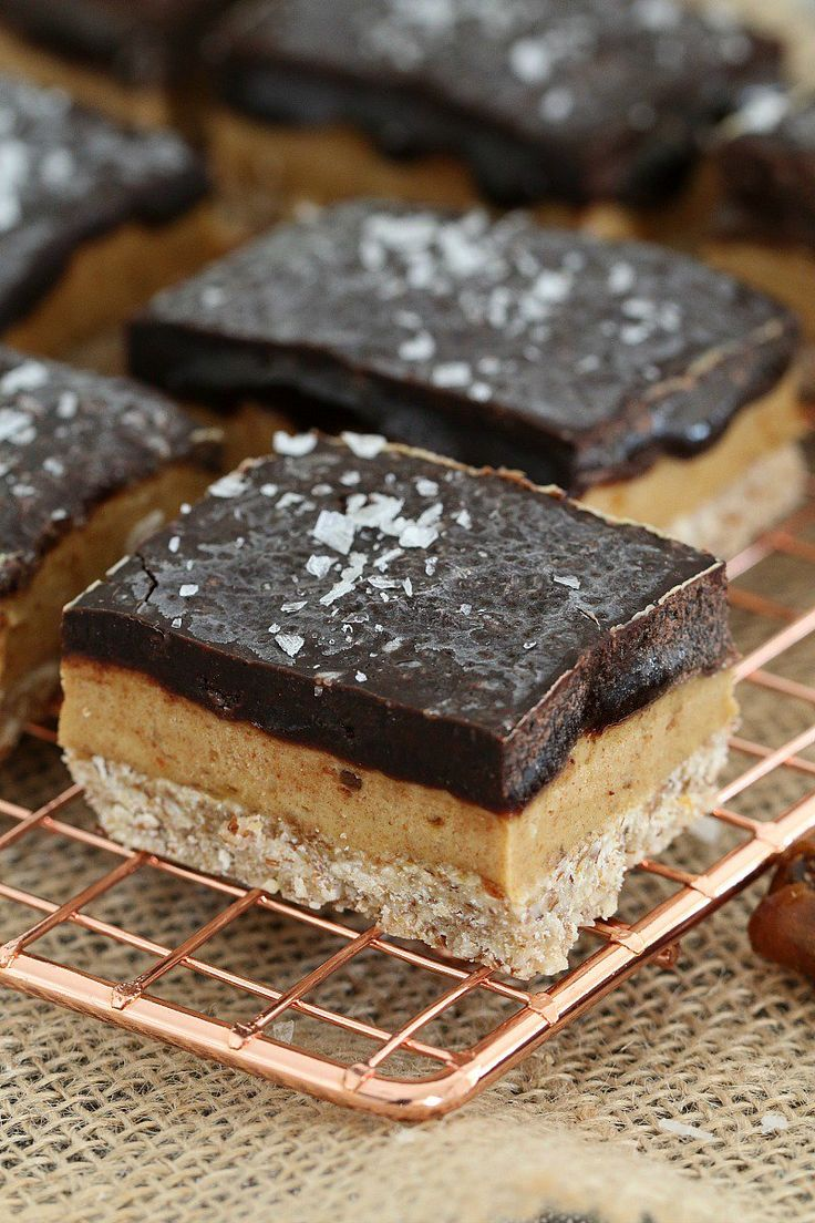 Healthy and Raw Salted Caramel Slice