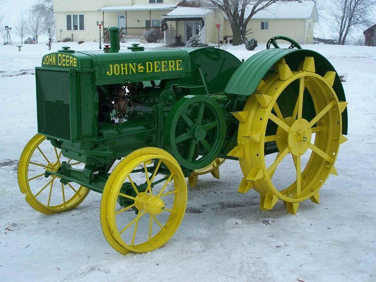 Nicely restored John Deere model D tractor.