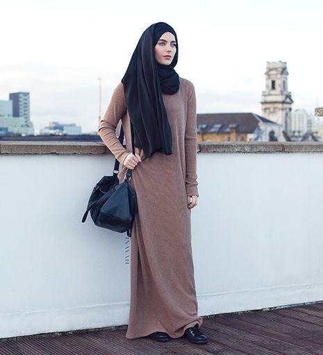 Wheat Knitted Maxi Dress - £49.99 : Inayah, Islamic Clothing & Fashion, Abayas, Jilbabs, Hijabs, Jalabiyas & Hijab Pins