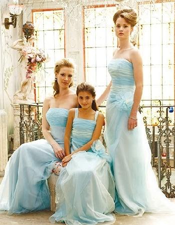 cheap baby blue brides maid dresses