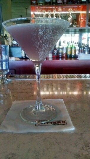 Lavender Cosmo at Cutters Crabhouse in Seattle