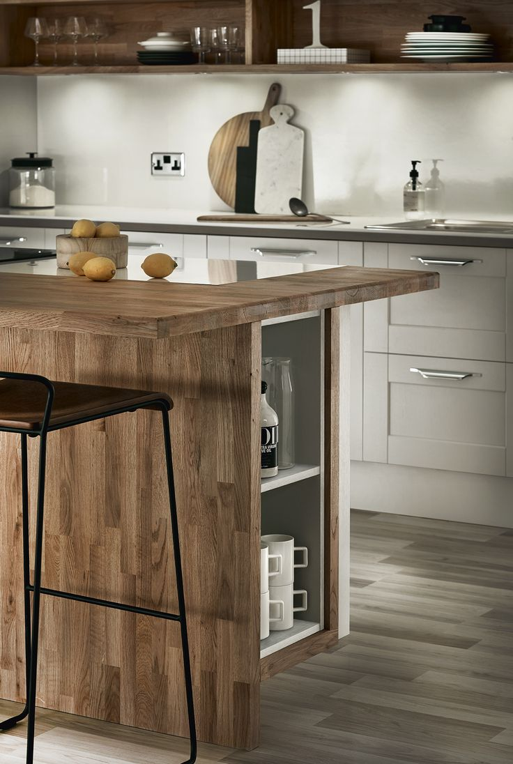 Home kitchen collection kitchen families glendevon family glendevon - A Bespoke Shelving Storage Unit Set Within Our Fairford Dove Grey Shaker Style Kitchen Contact
