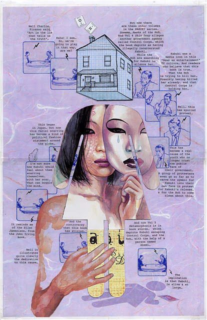 David Mack is my favorite dreamy artist and graphic novelist.  He is an amazing person and he's the essence of dreamy art.