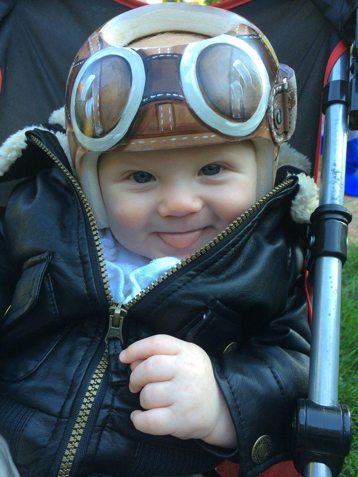 Finner In His Aviator Helmet Cranial Band Starband Https
