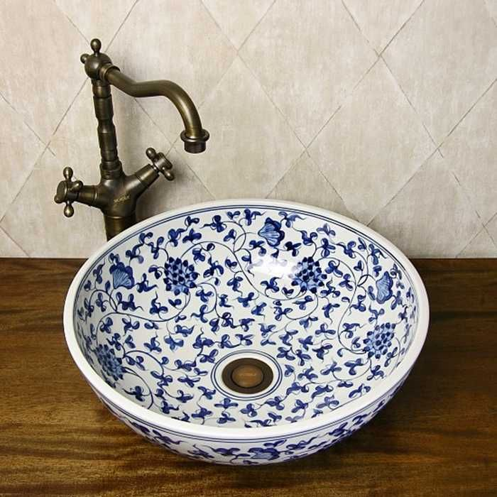 Oriental Hand Painted Blue And White Ceramic Porcelain Bathroom Sinks Porcelain Bathroom Sink Bathroom Sinkbathroom Porcelain Sink Aliexpress Porcelain Bathroom Sink Bathroom Sink Sink